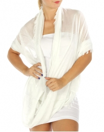 wholesale L73 Solid viscose infinity scarf White