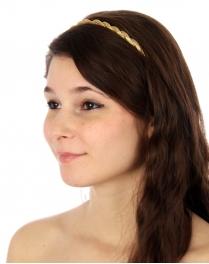 wholesale I71 Twisted chain headband Gold fashionunic