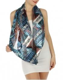 wholesale H45 Aztec wild infinity scarf Blue fashionunic