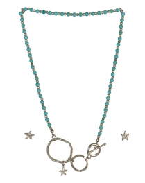 wholesale Star studs on loops necklace set WRH/TQS fashionunic