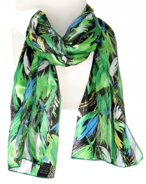 Wholesale WA00 Scribble leaf satin scarf