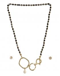 wholesale Studs on loops necklace set WG/HMT fashionunic