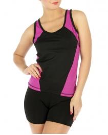 wholesale K83 Colorblock activewear tank top BL