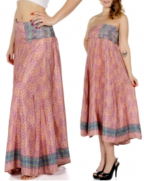 Wholesale P33 Floral Print w/ Chevron Stripes Sari Dress/Skirt BD