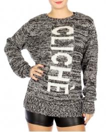 Wholesale N10B Clich?? Knit Sweater Black/White