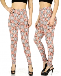 Wholesale F01 Baroque geometric print leggings