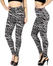 Wholesale E03E Zebra print leggings