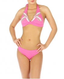 wholesale H11 Palm leaves bikini swimsuit Fuchsia