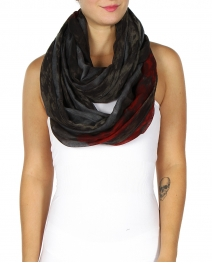 Wholesale H40D US Flag Infinity Scarf Navy