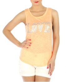 wholesale H09 Sequin embellished muscle cotton tee BK