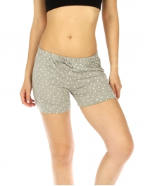 wholesale K77 Polka dot cotton pajama shorts L.grey