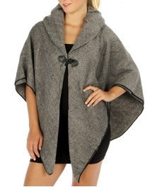 Wholesale R75 Thick collared woven cape GY fashionunic