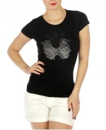 wholesale K55 Cotton embellished T shirt Black