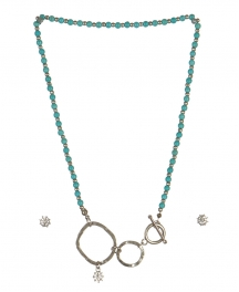 wholesale Studs on loops necklace set WRH/TQS fashionunic