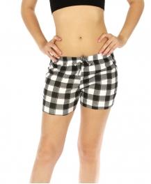 wholesale K77 Flannel pajama shorts Checkered