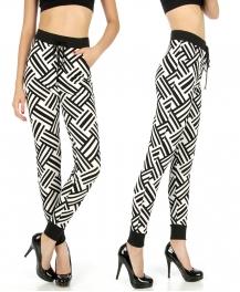 Wholesale C36 Black and white striped pants fashionunic