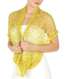 wholesale H43 Confetti scarf Green/Yellow fashionunic
