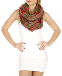 wholesale I06 Multicolored zebra infinity scarf Beige