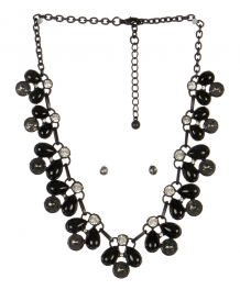 wholesale Clutter stone necklace set BKBD fashionunic