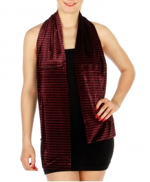 Wholesale P39C Hound tooth stretch Velvet scarf FCBK
