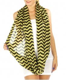 wholesale K92 Viscose chevron infinity scarf Yellw