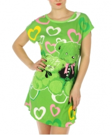 wholesale K22 Love Bear cotton sleep shirt Green