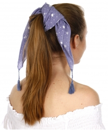 Wholesale I42A Square little anchors bandana w/ tassels