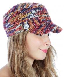 wholesale R50 Boucle knit cabbie hat Purple fashionunic