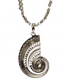 Wholesale WA00 Metal ammonite pendant necklace SB