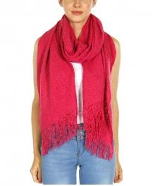 Wholesale U12B Fringe trim knit scarf