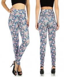wholesale B04 pocket stitch cotton leggings Blue M/L