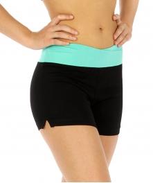 wholesale C29 Cross waistband cotton yoga shorts Mint