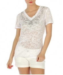 wholesale Swirly V rhinestone burnout cotton BK