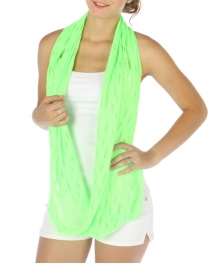wholesale J09 Distressed infinity scarf Lime fashionunic