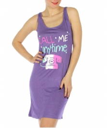 wholesale K22 Call me tank sleep shirt Purple