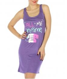 wholesale K22 Call me tank sleep shirt Purple