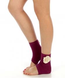 wholesaleG51 Crochet detail cotton blend heel socks PP