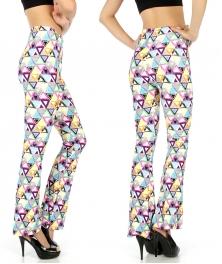 Wholesale B03 Multicolored triangle softbrush flare leggings