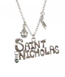 Wholesale WA00 SAINT NICHOLAS Christmas pendant necklace SV