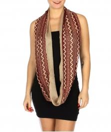 Wholesale H30A Lace infinity scarf two tone chevron Dozen