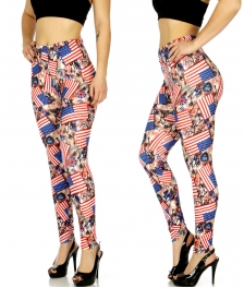 Wholesale C17D America print leggings