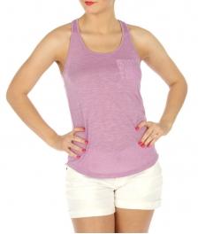 wholesale crossback cotton tank lace pocket BK