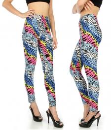Wholesale E07 Zebra and cheetah softbrushed leggings