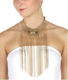 Wholesale L23 Metal chain choker necklace set AG