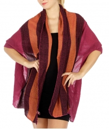 Wholesale S60 Tri tone wave woven scarf Plum fashionunic