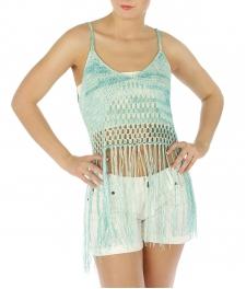 wholesale M31 Cotton tassel fringe crochet tank GY