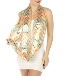 wholesale H45 Zig zag infinity scarf Beige fashionunic