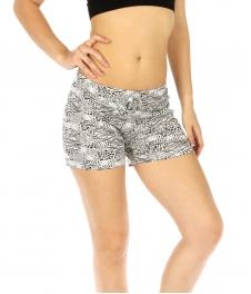 wholesale K77 Zebra cotton pajama shorts Black/White