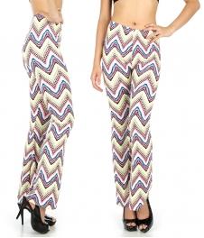 Wholesale B06 Abstract waves softbrush flare leggings