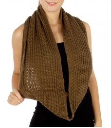 wholesale R62 Solid thick knit infinity scarf KK